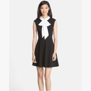 Betsy Johnson Black White Peter Pan Collar Dress